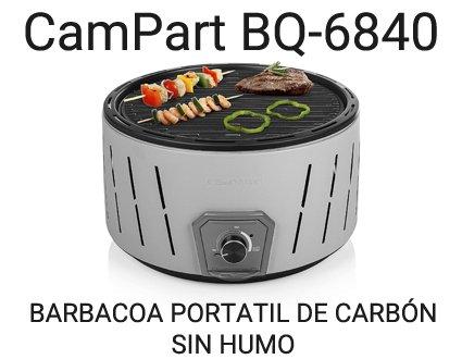 CamPart BQ 6840 barbacoa portatil de carbon sin humo