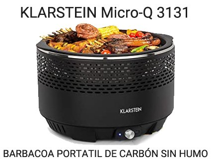KLARSTEIN Micro-Q-3131-barbacoa-portatil de carbon sin humo